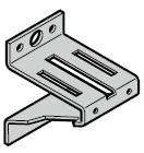 Support roulette supérieur, galvanisé (ferrures H, L et N)
