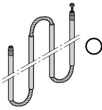 Set pour tiges de poussée AP 013 avec câble