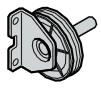 Equerre de soutien pour renvoi de câble avec poulie, ferrures Z et BZ