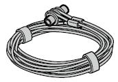 Câbles de traction Ø 3 mm complets, ferrure Z avec logement de câble par porte
