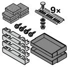 Set : accessoires de fixation pour cadre d'habillage de 95 mm, noir