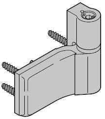 Paumelles en applique pour portillon indépendant à 1 vantail avec type de profilé 4, 2 ou 1
