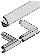 Set : joint de butée pour portillon indépendant