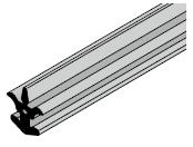 Joint intermédiaire pour sections de porte à double paroi et parcloses NF