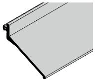 Joint de linteau (ferrure H et portes à portillon incorporé uniquement)
