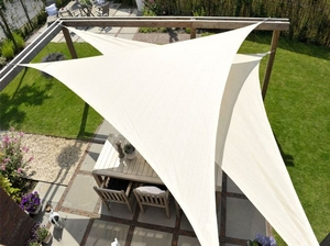 Coolfit Voile d'ombrage triangle 4,0 x 4,0 x 5,7