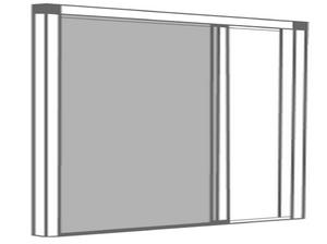 Moustiquaire enroulable latérale