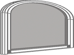 Moustiquaire à cadre fixe cintrée