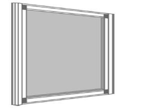 Moustiquaire à cadre fixe