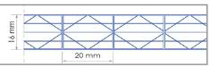 Polycarbonate alvéolaire 5 parois - 16mm