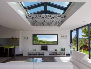 Store ANTI-CHALEUR de veranda toiture plate - EVADA
