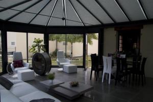 Store ANTI-CHALEUR de veranda toiture victorienne - VEGA