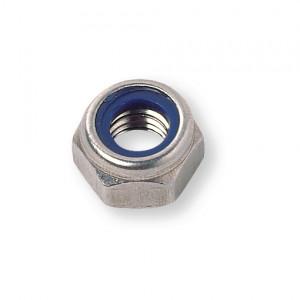 Ecrou hexagonal pas métrique DIN 985 M8x1,25 inox A2