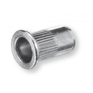 Ecrou noyé aluminium tête plate M4 0,5-3
