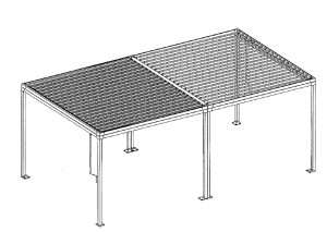 Pergola bioclimatique double autoportante