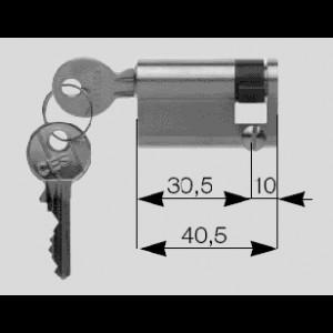 Hormann demi-cylindre profilé 40,5 mm avec 2 clés