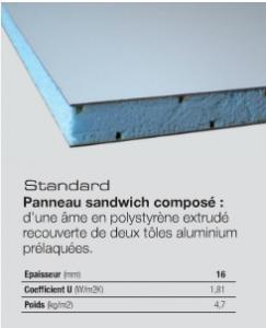 Panneau standard à parcloser - 16mm
