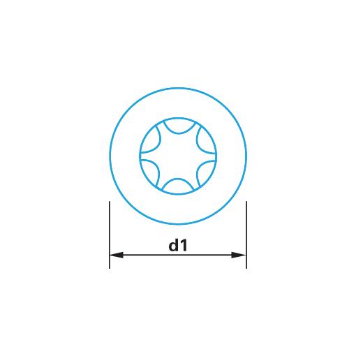 Capuchon plastique à clipser pour tête plate Tx 30 blanc
