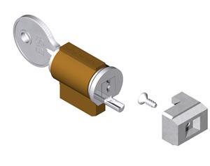 Barillet et palier pour fermeture double à encastrer pour profil de 23 à 27 mm